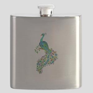 REGAL PEACOCK Flask