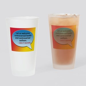 Controversial Books Drinking Glass