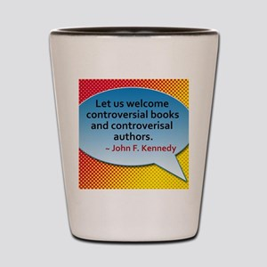 Controversial Books Shot Glass