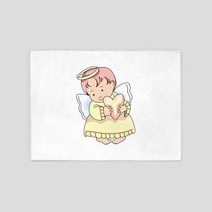 ANGEL WITH HEART 5'x7'Area Rug