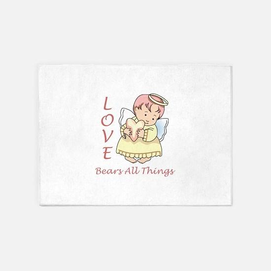 Love Bears All Things 5'x7'Area Rug