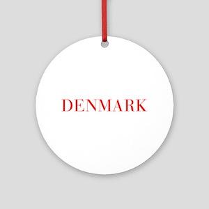 Denmark-Bau red 400 Ornament (Round)
