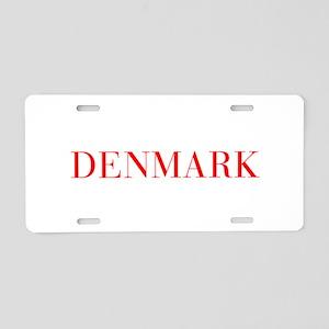 Denmark-Bau red 400 Aluminum License Plate