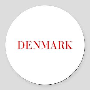 Denmark-Bau red 400 Round Car Magnet