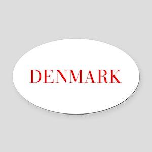 Denmark-Bau red 400 Oval Car Magnet