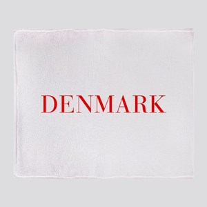 Denmark-Bau red 400 Throw Blanket