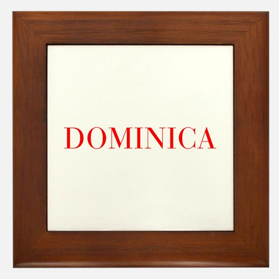 Dominica-Bau red 400 Framed Tile