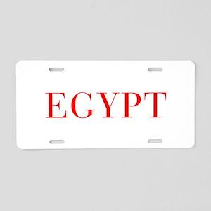 Egypt-Bau red 400 Aluminum License Plate