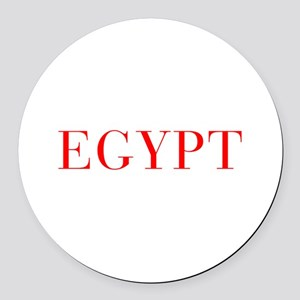 Egypt-Bau red 400 Round Car Magnet