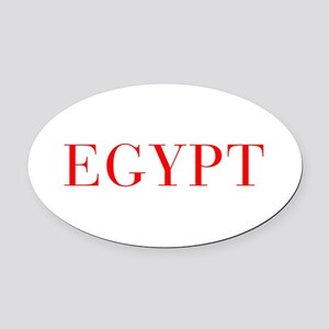 Egypt-Bau red 400 Oval Car Magnet