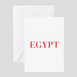 Egypt-Bau red 400 Greeting Cards