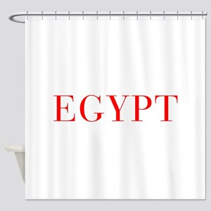 Egypt-Bau red 400 Shower Curtain