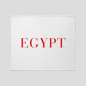 Egypt-Bau red 400 Throw Blanket