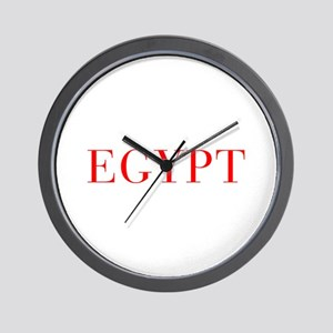 Egypt-Bau red 400 Wall Clock