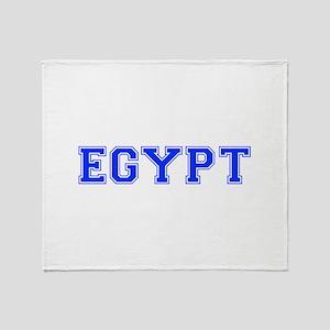 Egypt-Var blue 400 Throw Blanket