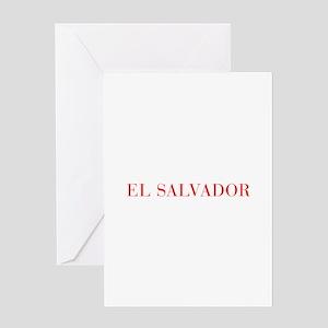 El Salvador-Bau red 400 Greeting Cards