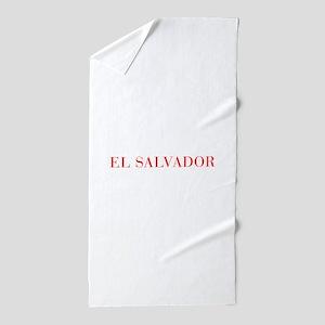 El Salvador-Bau red 400 Beach Towel