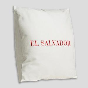 El Salvador-Bau red 400 Burlap Throw Pillow