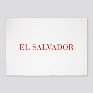 El Salvador-Bau red 400 5'x7'Area Rug