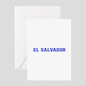 El Salvador-Var blue 400 Greeting Cards