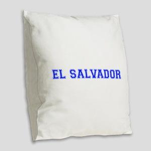 El Salvador-Var blue 400 Burlap Throw Pillow