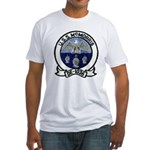 USS McMORRIS Fitted T-Shirt