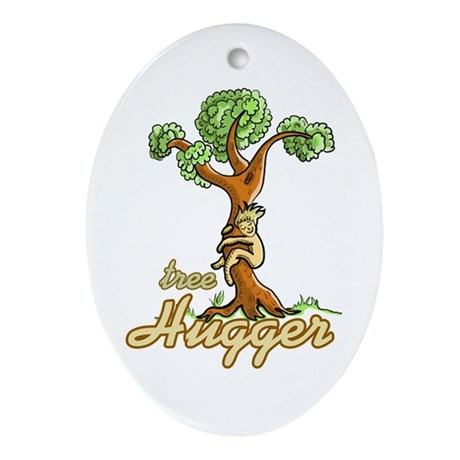 Tree Hugger Oval Ornament