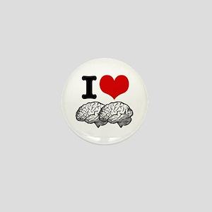 I Love Brains Mini Button