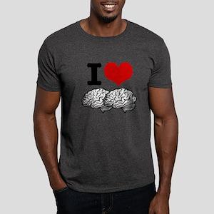 I Love Brains Dark T-Shirt
