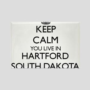 Keep calm you live in Hartford South Dakot Magnets