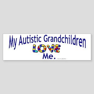 My Autistic Grandchildren Love Me Bumper Sticker
