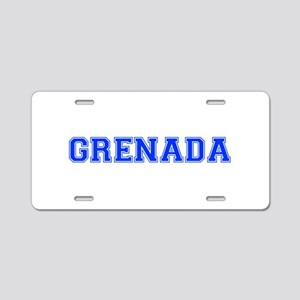 Grenada-Var blue 400 Aluminum License Plate