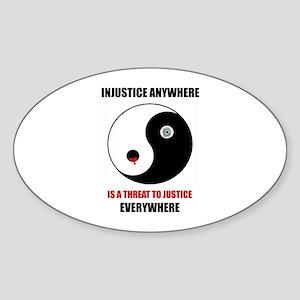 Homage to MLK Oval Sticker