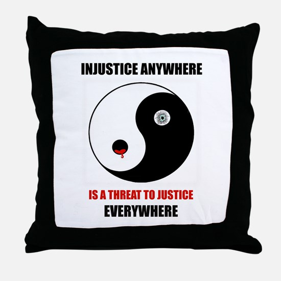 Homage to MLK Throw Pillow
