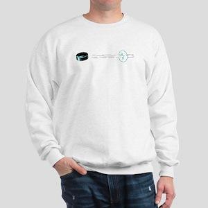 Hockey Puck Flying Sweatshirt