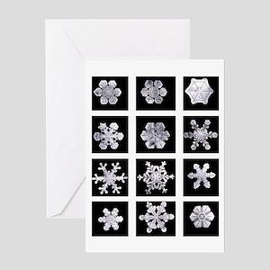 Snowflake Grid Solstice Card