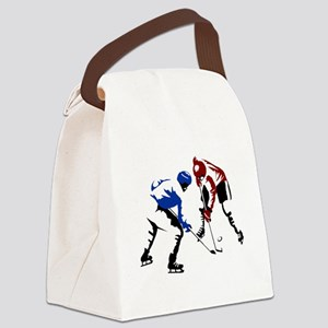 Faceoff Canvas Lunch Bag