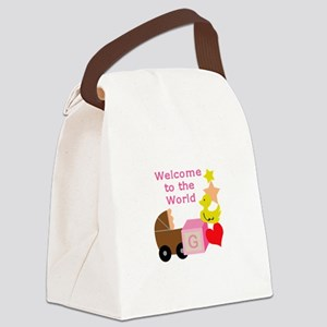 WELCOME TO THE WORLD Canvas Lunch Bag