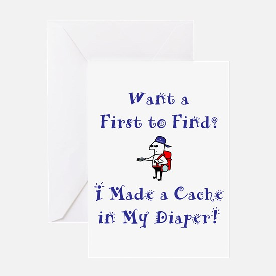 FTF Diaper Cache Greeting Card