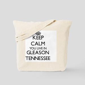Keep calm you live in Gleason Tennessee Tote Bag