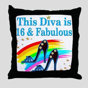 16 YR OLD PRINCESS Throw Pillow