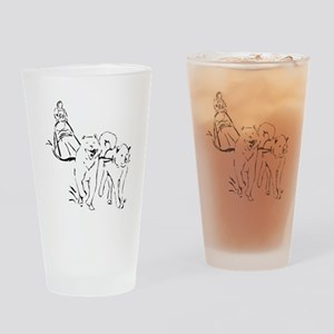 Dog Sled Racing Drinking Glass