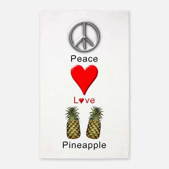 Peace Love Pineapple Area Rug