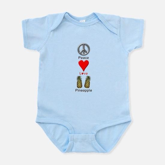 Peace Love Pineapple Infant Bodysuit