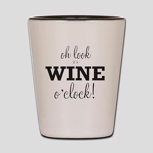 Wine O Clock Shot Glass