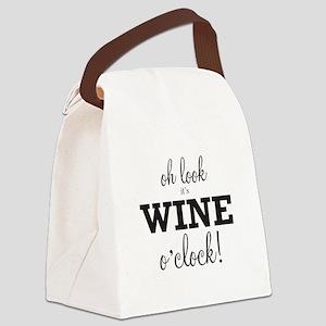 Wine O Clock Canvas Lunch Bag