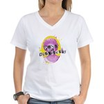 Punk and Disorderly Women's V-Neck T-Shirt