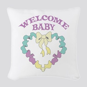 WELCOME BABY Woven Throw Pillow