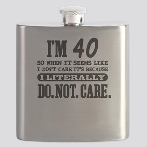 40 Do Not Care Flask