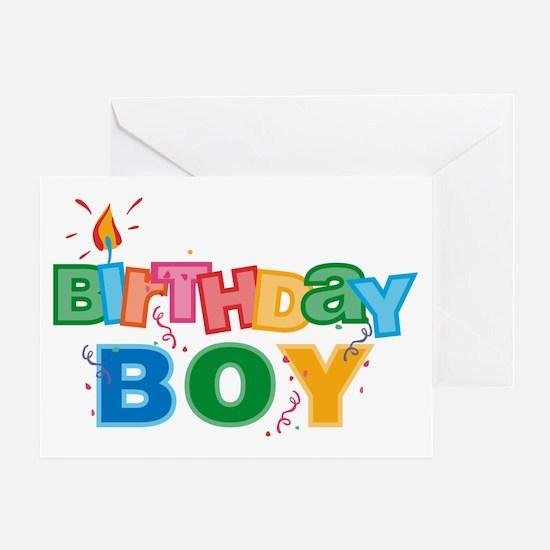 Birthday Boy Letters Greeting Card